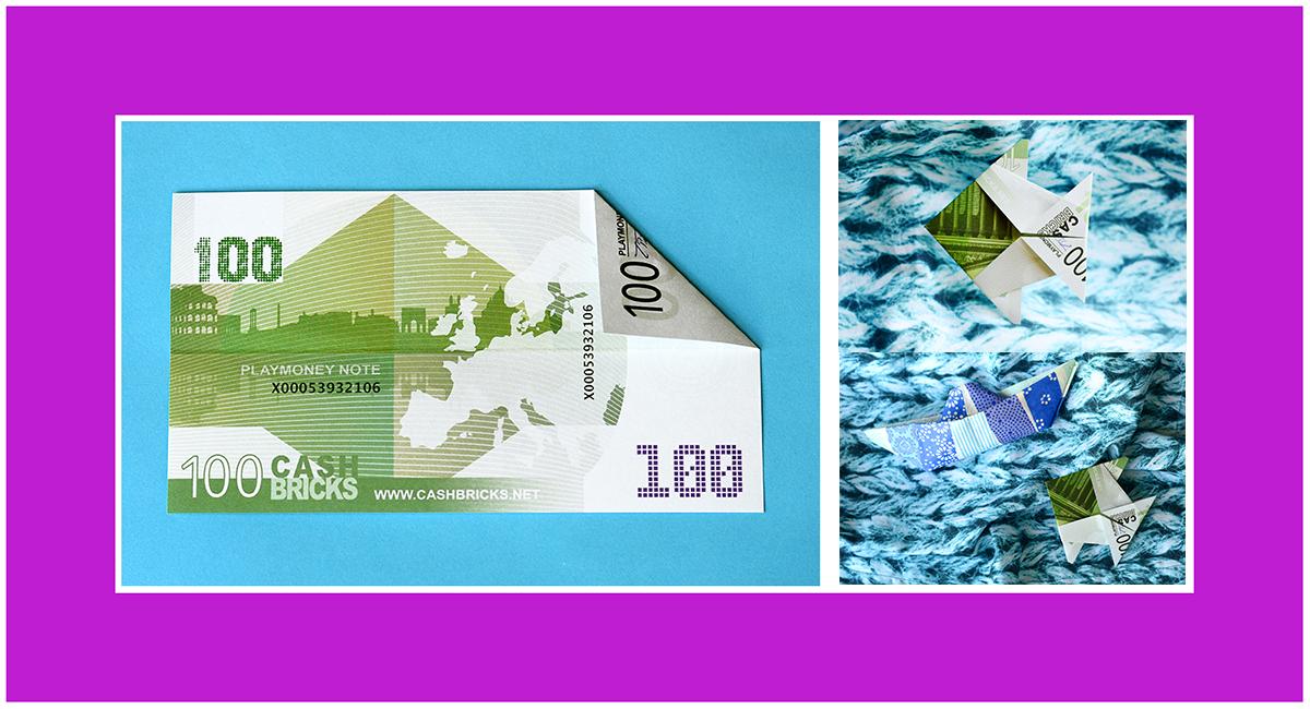 Geldscheine falten 100 Euro Schein