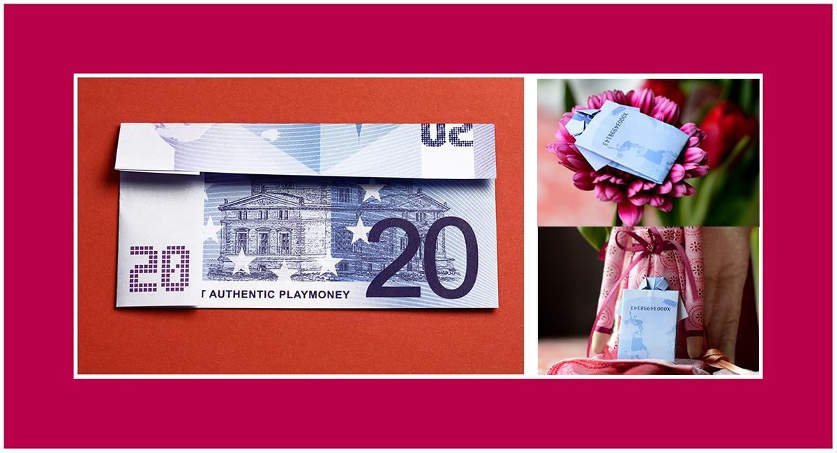 Geldscheine falten Anleitungen