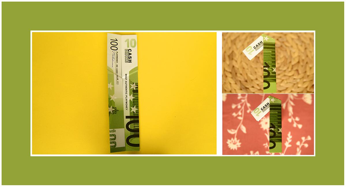 Geldscheine falten Geburtstagsgeschenk