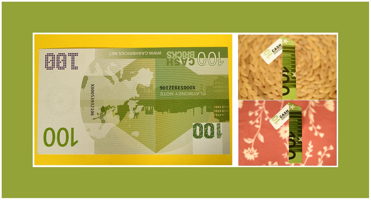 Geldscheine falten Zahl 1 Anleitung