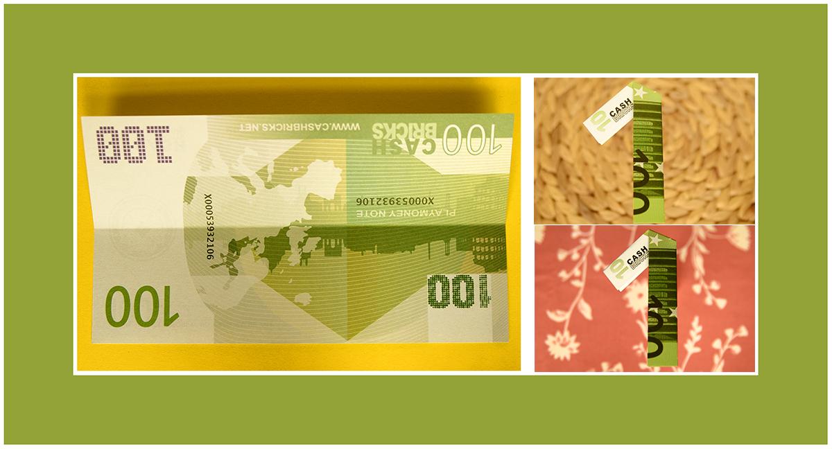 Geldscheine falten Zahlen