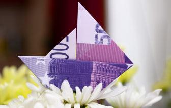 Geldscheine falten Anleitung Schiff