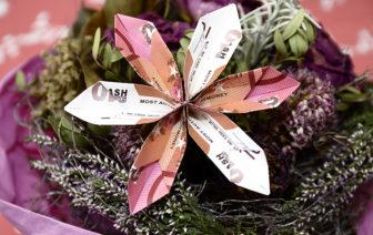 Geldscheine falten Anleitung Blume