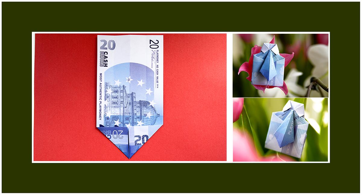 Geldscheine falten 20 euro Scheine