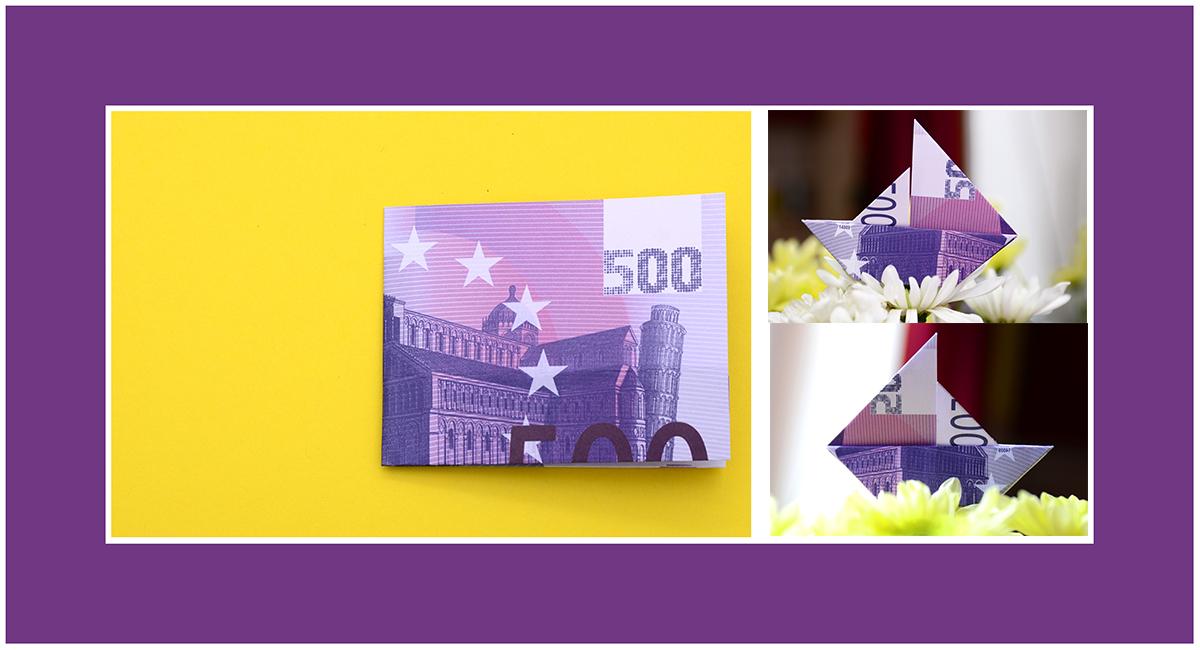 Geldscheine Falten 500 Euro