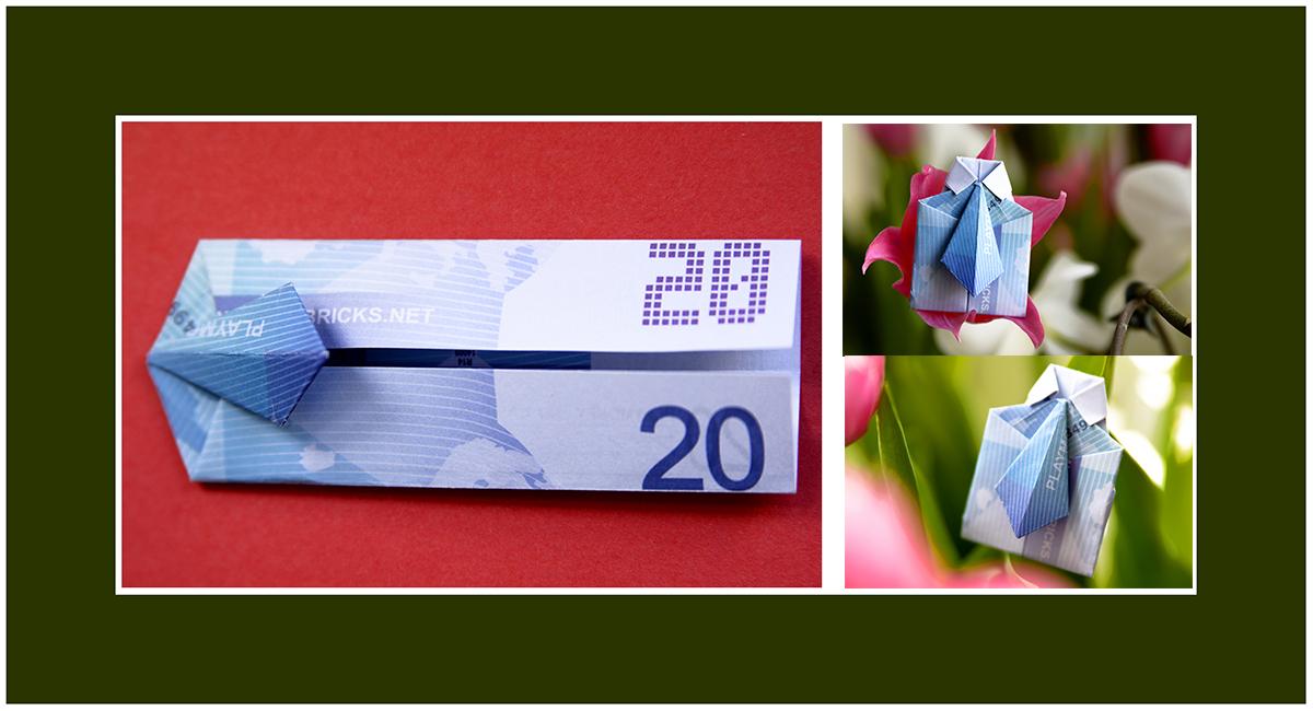 Geldscheine falten Kommunion
