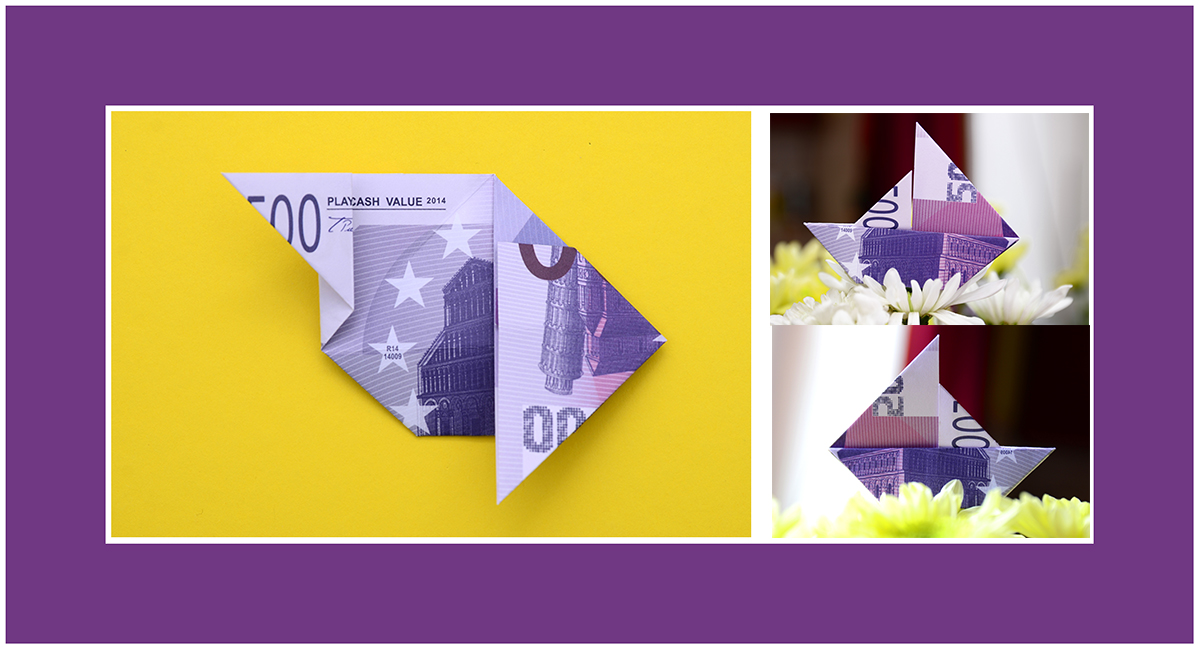 Segelschiff aus Geldscheinen falten