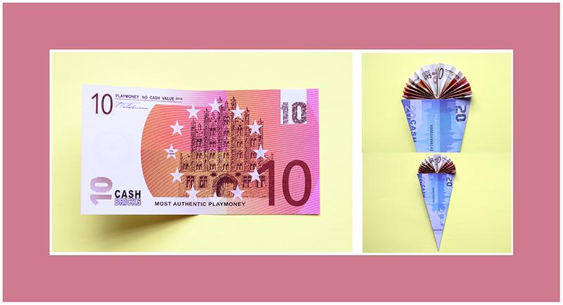 10 Euro Scheine falten Schultüte