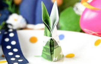 Geldscheine falten Hase zu Ostern