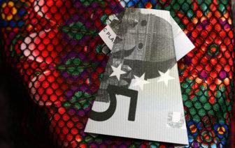 Geldscheine falten Kleid einfach