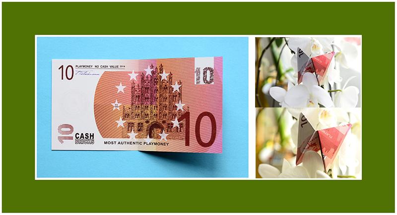 Geldschein falten Schmetterling