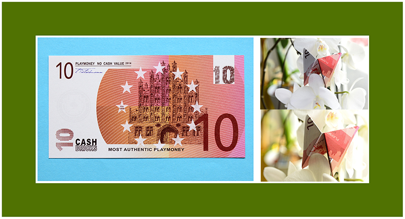 Geldscheine falten Anleitung Schmetterling
