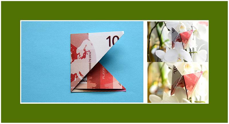 Geldscheine falten Schmetterling schnell und einfach