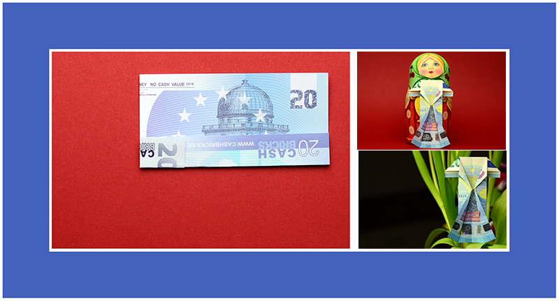 20 Euro Geldschein falten Kleid