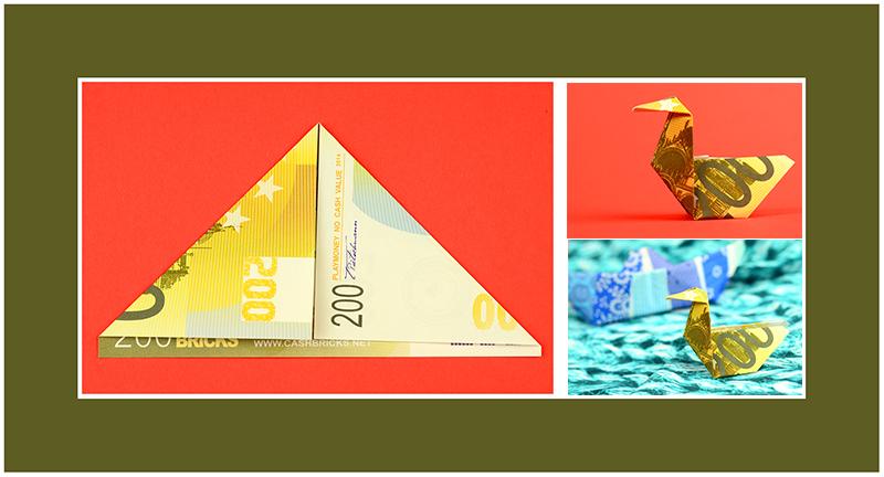 200 Euro Geldschein falten