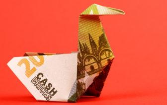 Geldscheine falten Ente