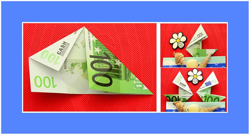 Geld Origami Schiff