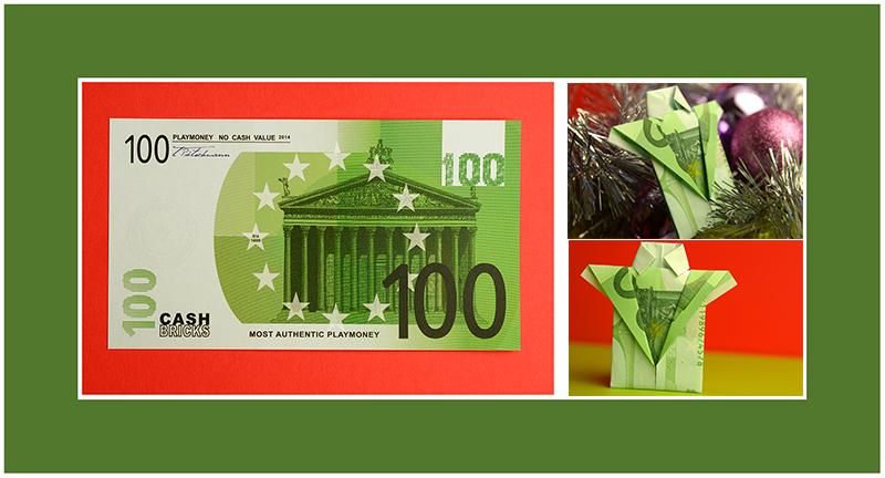 Geldscheine falten 100 Euro