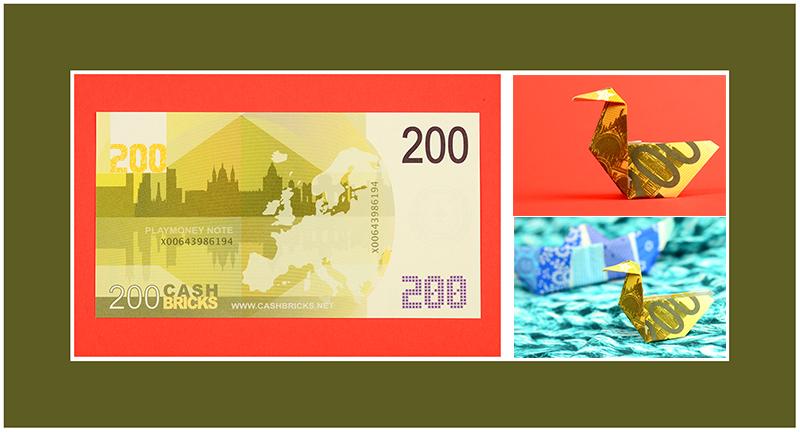 Geldscheine falten 200 Euro