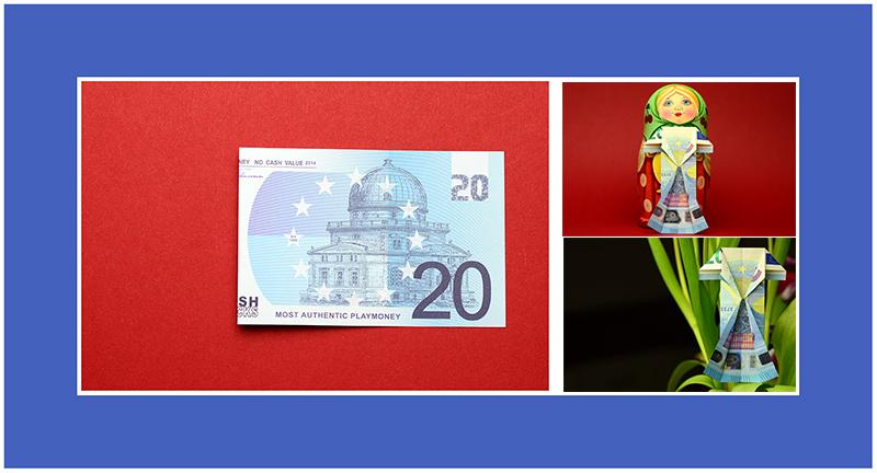 Geldscheine falten Kleid 20 Euro
