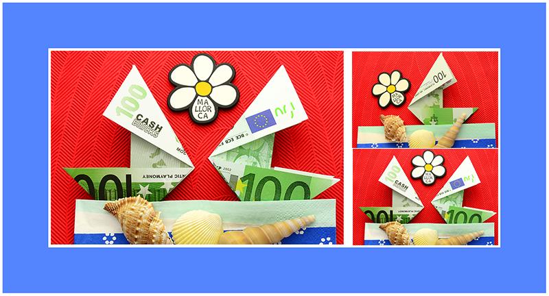 Geldscheine falten Schiff 01
