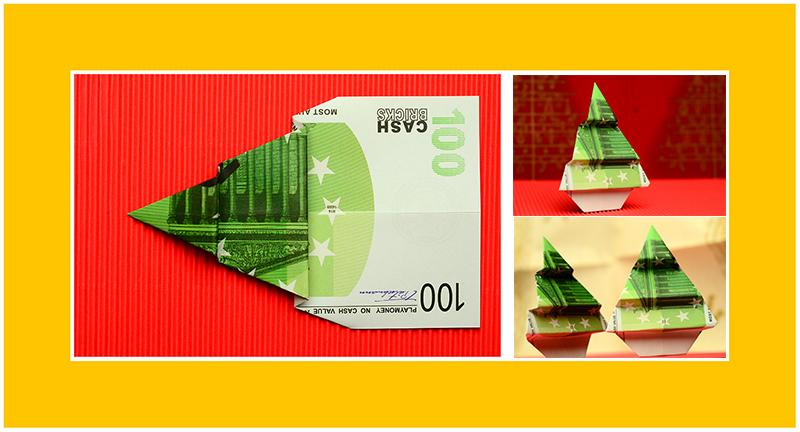 Geld Falten Tannenbaum