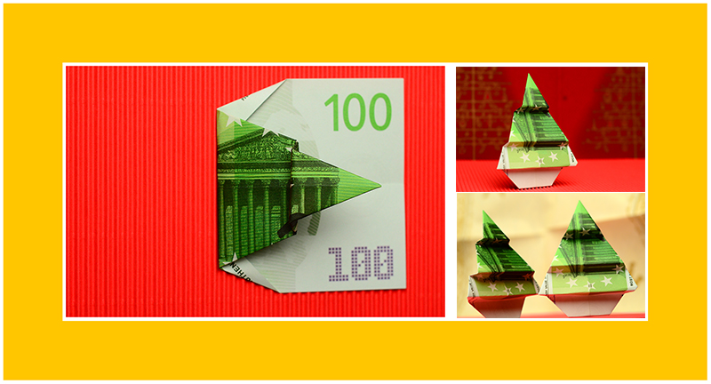 Geld falten Weihnachten