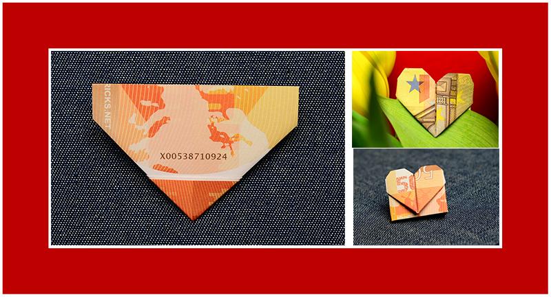Geld Origami Herz