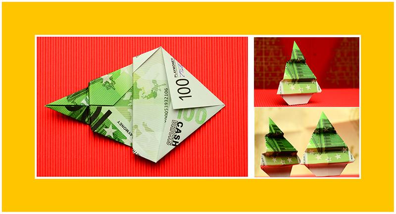 Geld Origami Tannenbaum