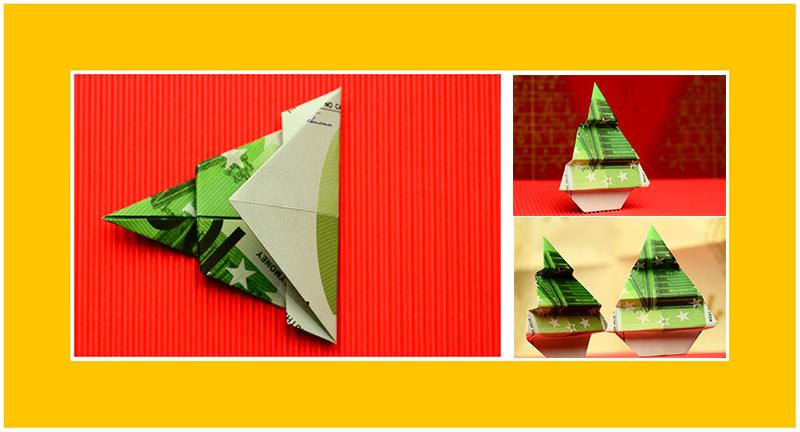 Geld Origami Weihnachtsbaum