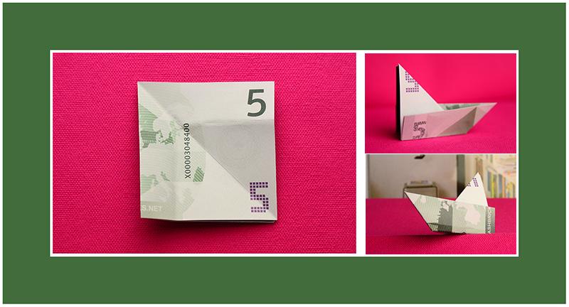 Geld schenken 5 Euro Schein falten