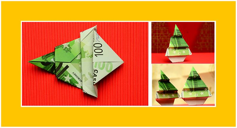 Geldgeschenke Origami 100 Euro Schein