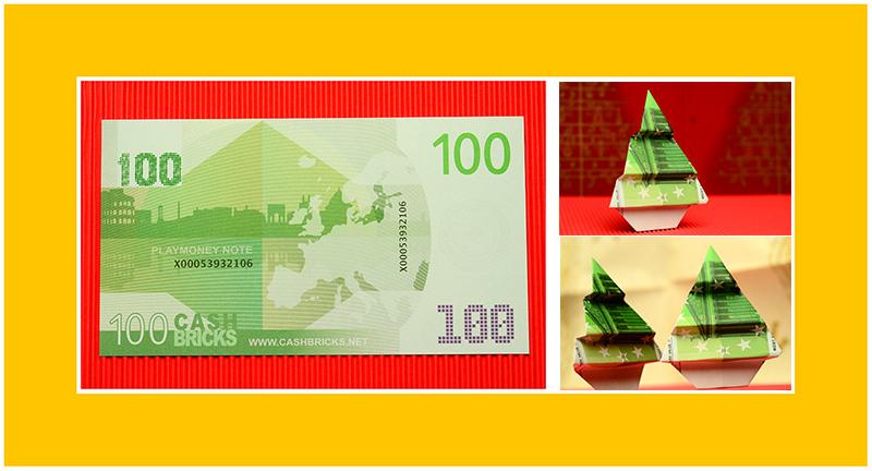 Geldschein falten zu Weihnachten