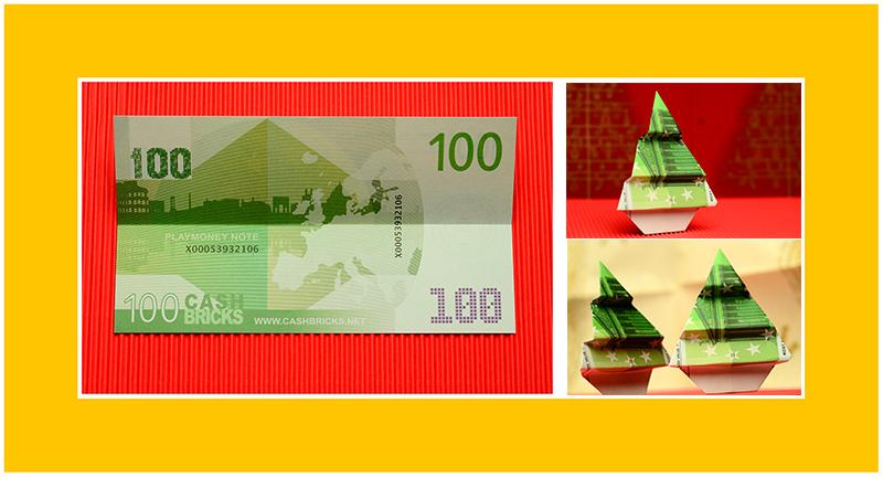 Geldscheine falten 100 Euro Scheine