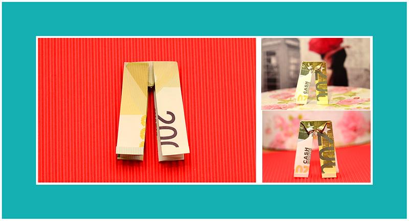 Geldscheine falten Hose 012