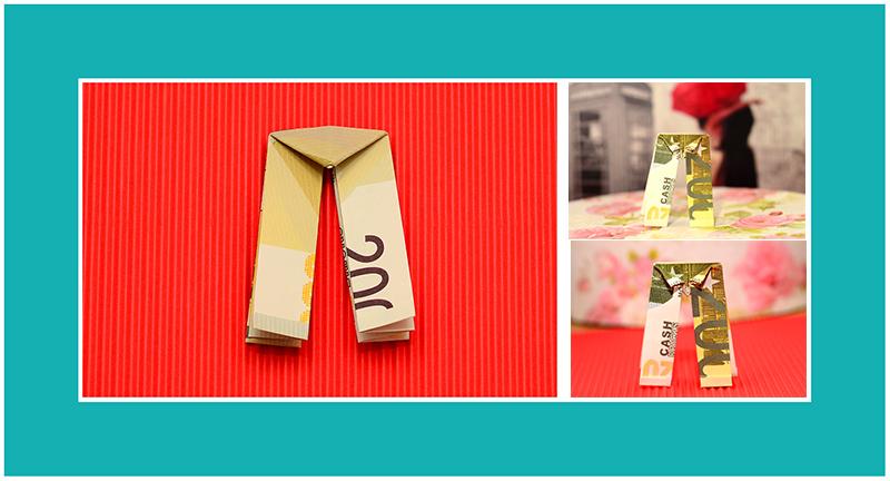 Geldscheine falten Konfirmation Hose