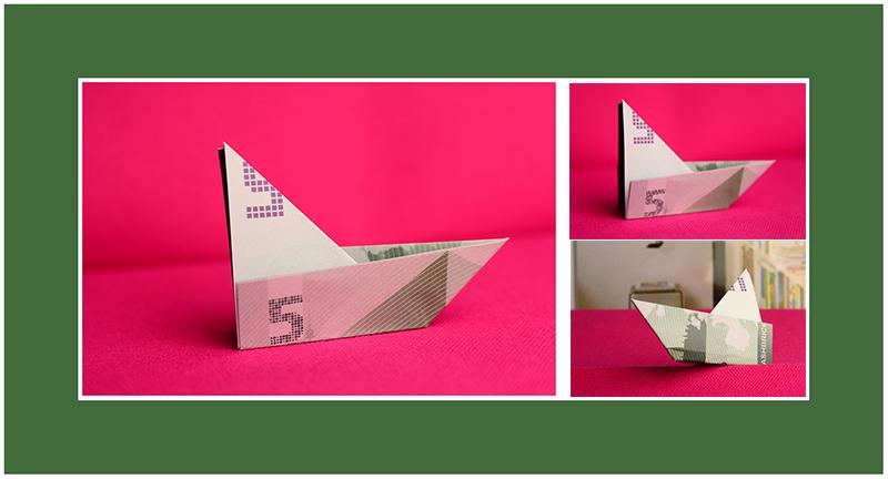 Geldscheine falten Schiff Boot schnell