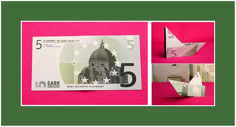 Geldscheine falten Schiff schnell Anleitung
