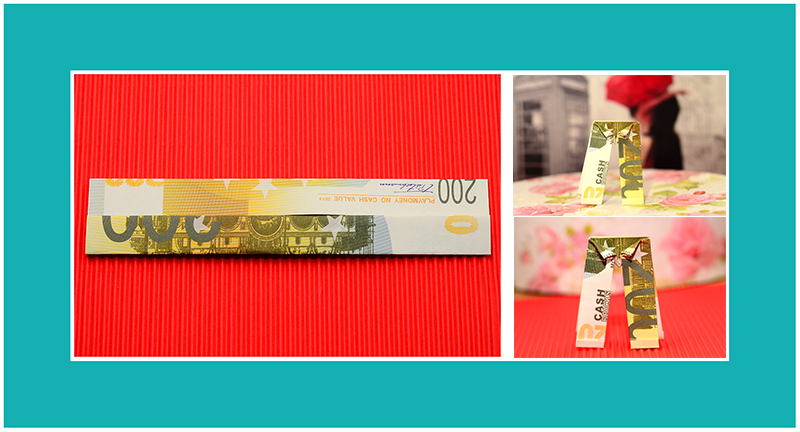 Geldscheine falten schnell