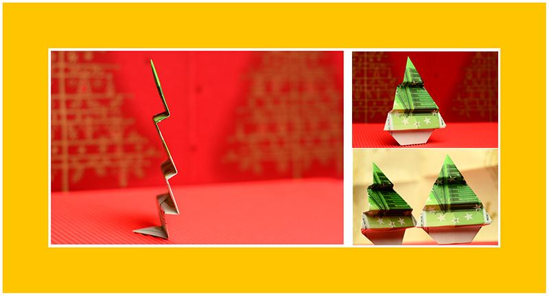 Geldscheine falten zu Weihnachten 04