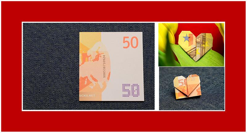 Herz aus 50 Euro falten