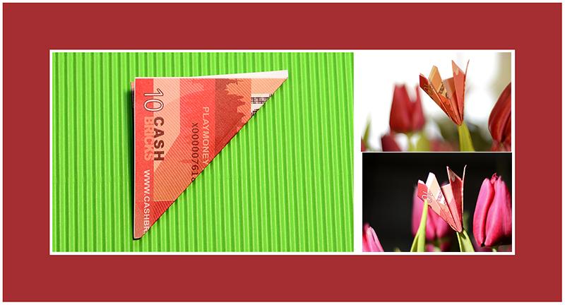 Geld Origami 10 Euro