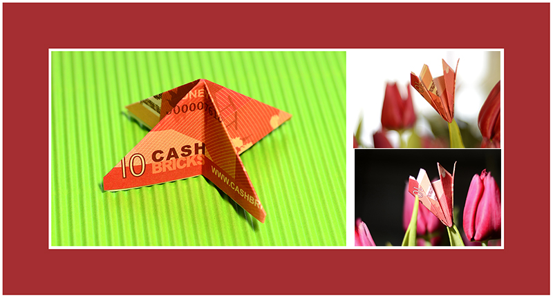 Papier falten Origami Blumen