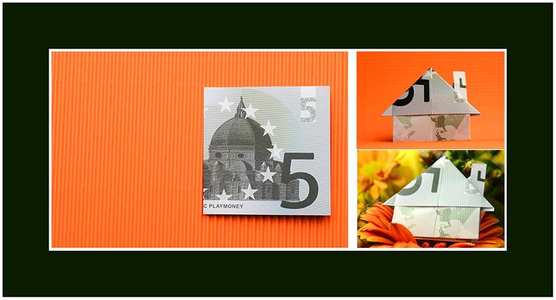 5 Euro Geldschein falten