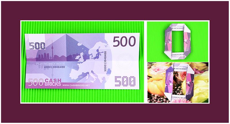 500 Euro Scheine falten