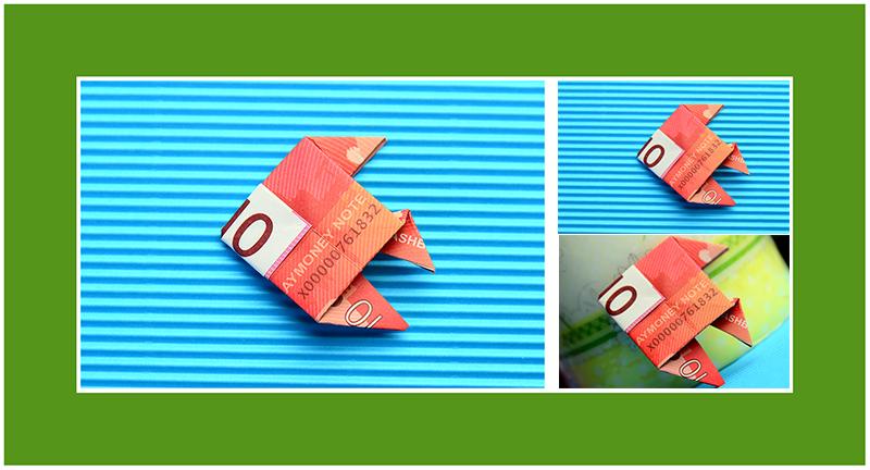 Fisch aus 10 Euro Geldschein falten 01