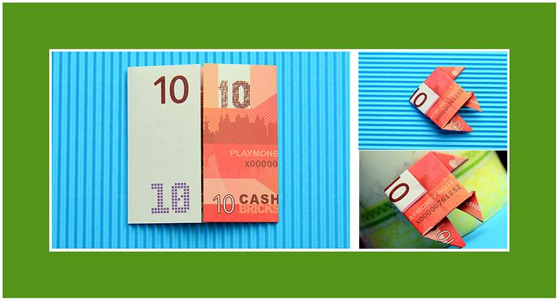 Geldscheine falten einfach