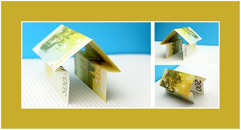 Geldscheine falten Haus 01