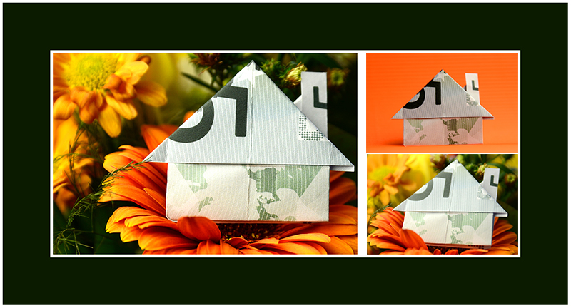 Geldscheine falten Haus 02