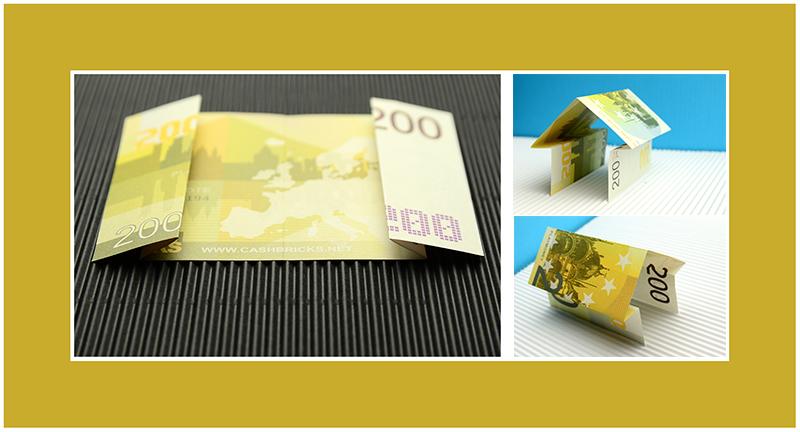 Haus aus Geldschein falten